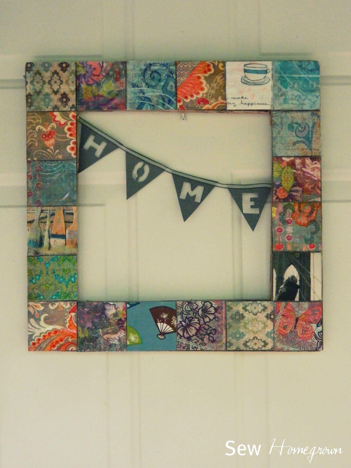 Sew Homegrown *Ctsb*{Diy} Anthopologie Inspired Door Hanging