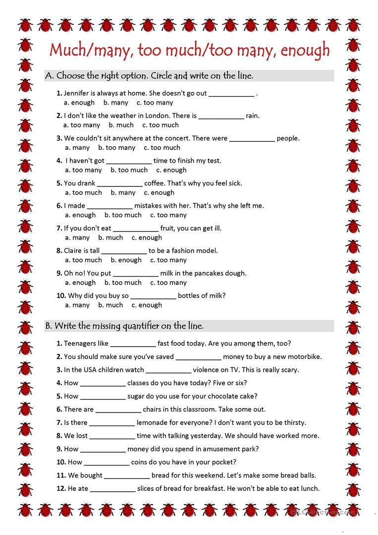 Quantifiers Ws Worksheet Free Esl Printable Worksheets Made By Teachers Grammar Worksheets Learn English English Grammar Worksheets [ 1079 x 763 Pixel ]