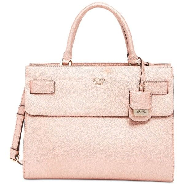 GUESS Cate Satchel ($118) ❤ liked on Polyvore featuring