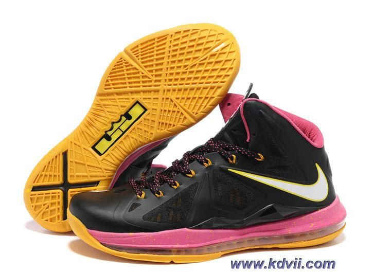 cheap for discount c76ef 20c36 New 541100-005 Floridians Black Pink Yellow Style Nike Lebron X 10
