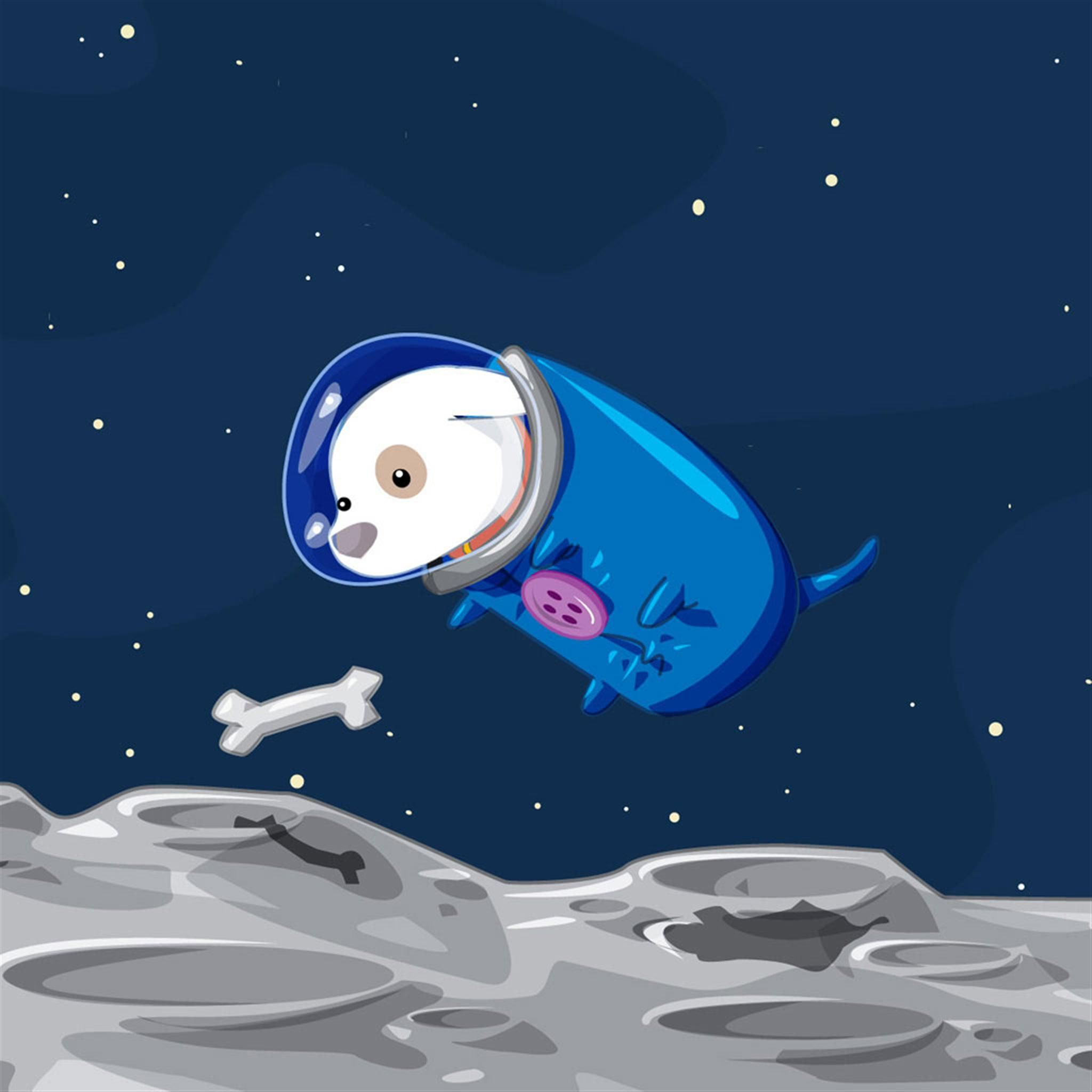 The Space Dogs Find Food IPad Air Wallpapers