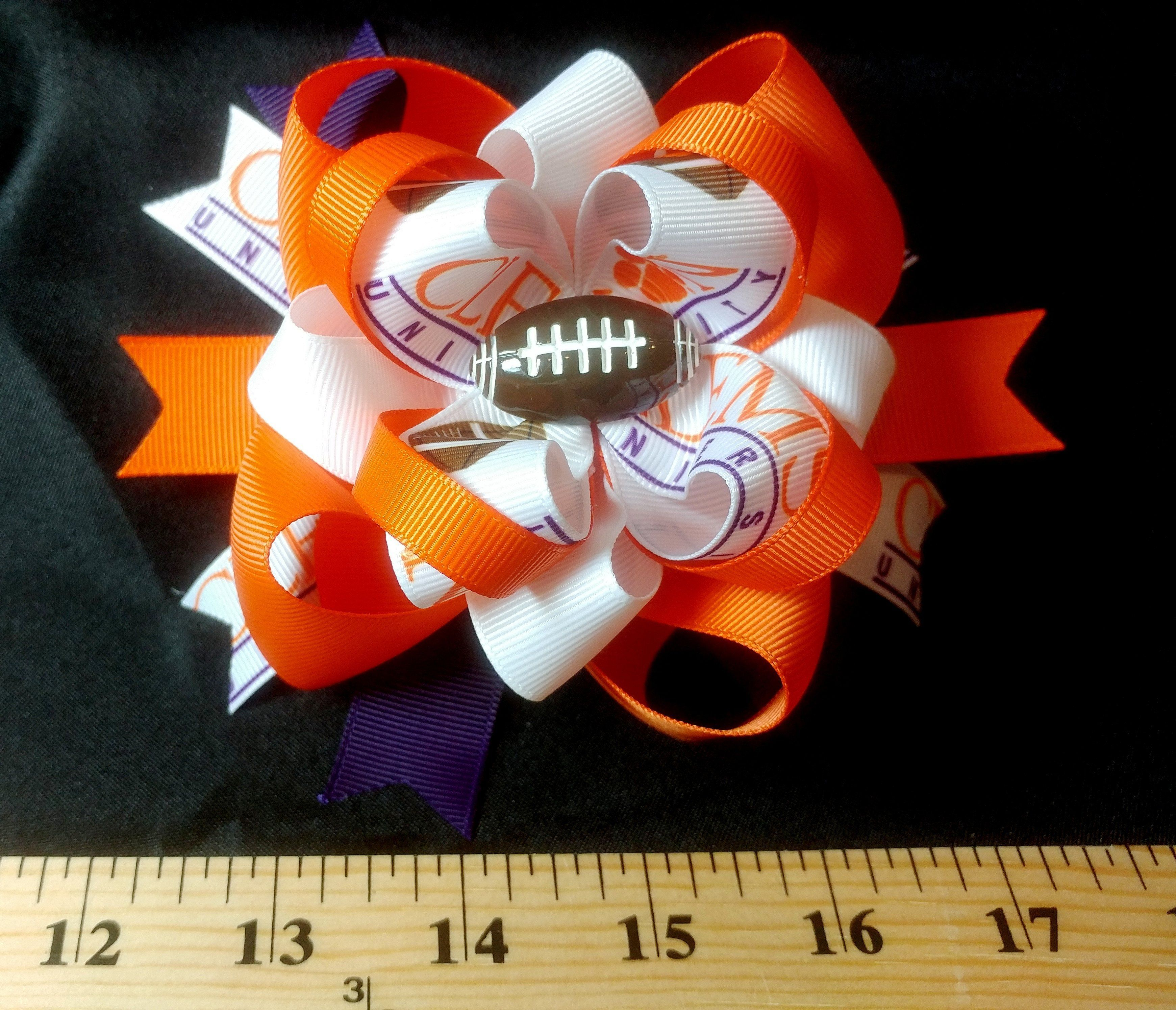 """Approximately 5"""" Boutique Stacked Loopy Hair Bow Triple"""