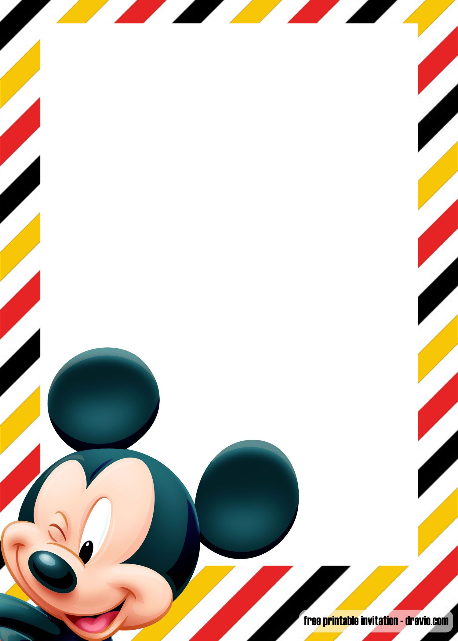 Free Printable Oh Toodles Mickey Invitation Templates Mickey Invitations Mickey Mouse Themed Birthday Party Mickey Mouse Invitation