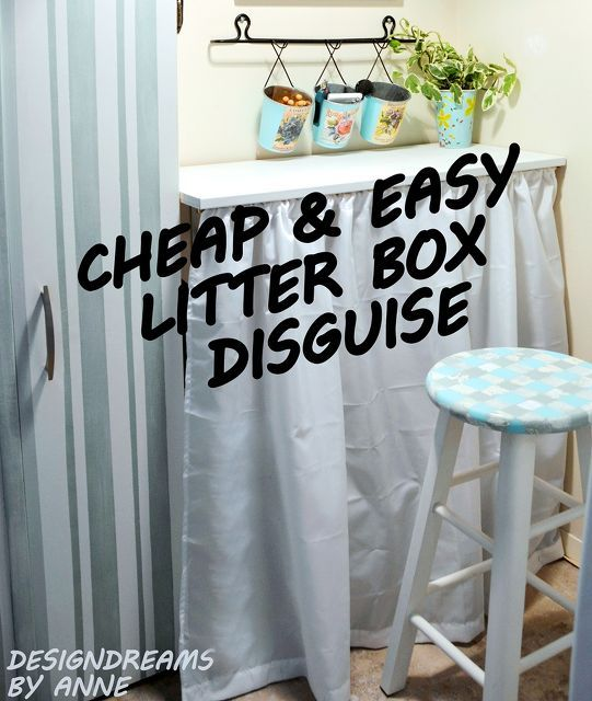 quick easy litter box disguise, countertops, diy, laundry rooms, pets animals, storage ideas
