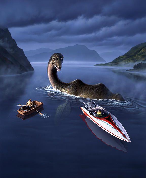 Scottish Cuisine By Jerry Lofaro Loch Ness Monster Monster Art Lake Monsters