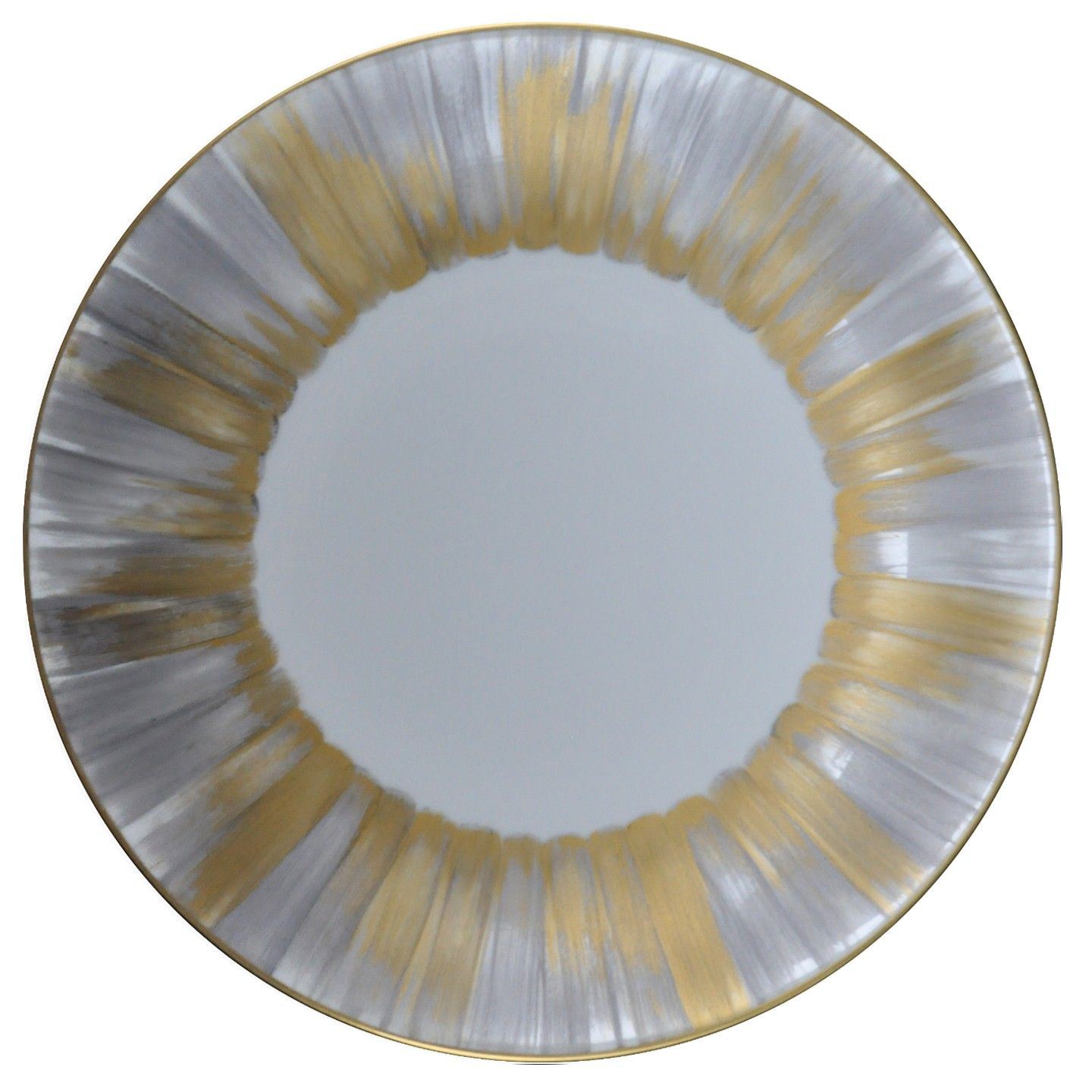 Panache Presentation Plate Silver and Gold | Dinnerware | Jung Lee ...