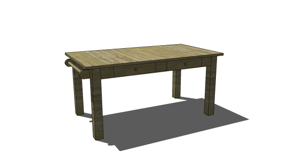 Ordinaire Free DIY Furniture Plans To Build A PB Kids Inspired Carolina Craft Table    Www.
