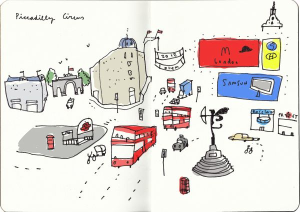 London: an artist's year (I) | London drawings