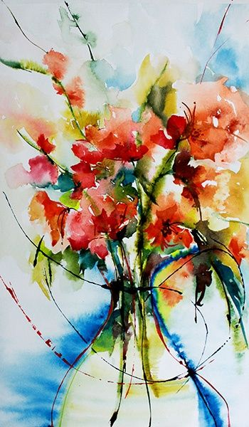 Veronique Piaser Moyen C 2013 Piasermoyen Com Aquarelle Originale