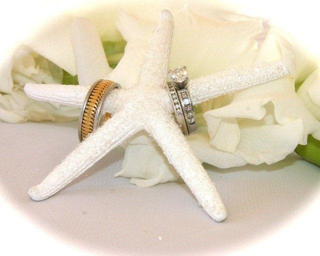 Crystal Starfish Ring Holder Beach Wedding Photo Prop Beach