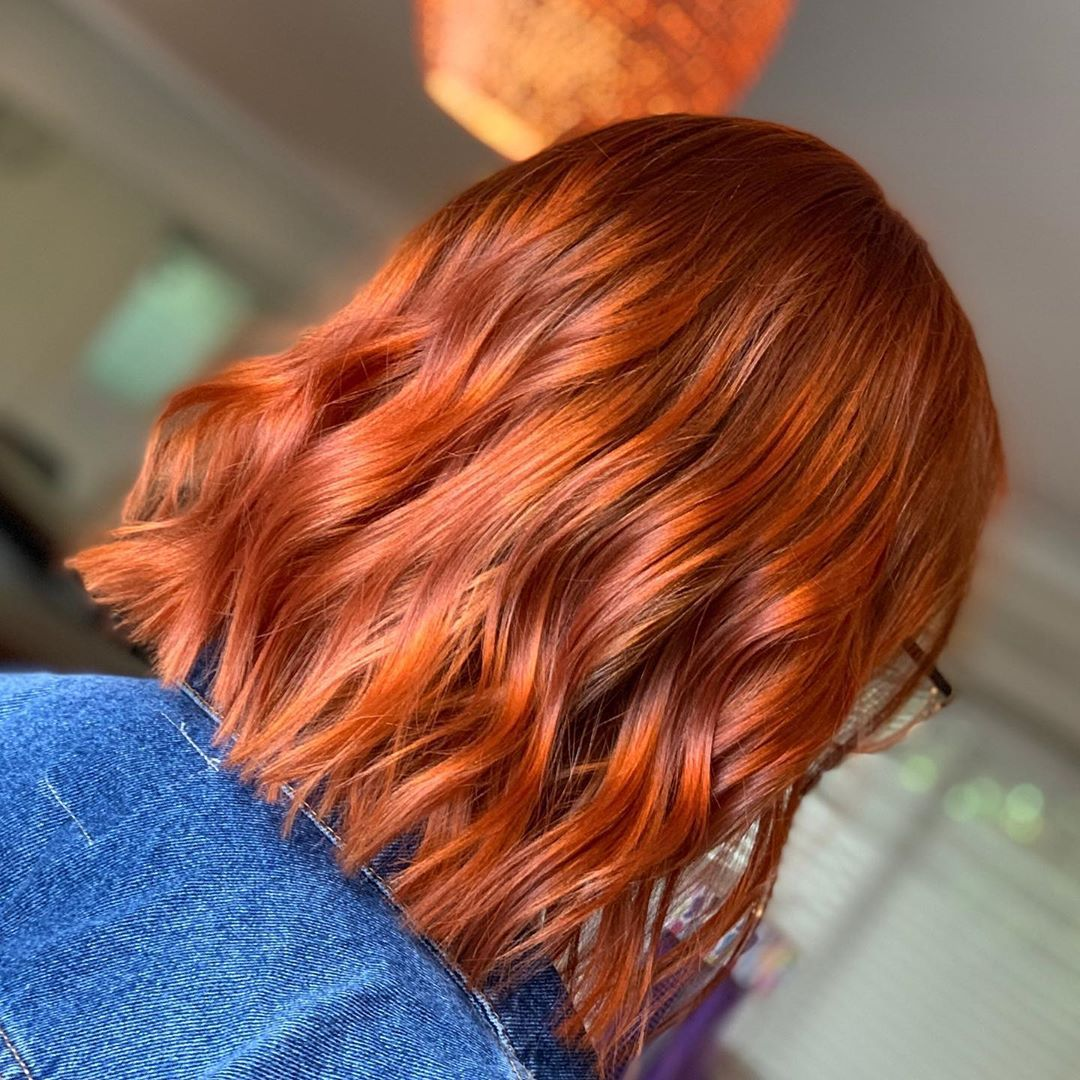 Burnt orange hair color perfect for anyone with natural hair, dark ...
