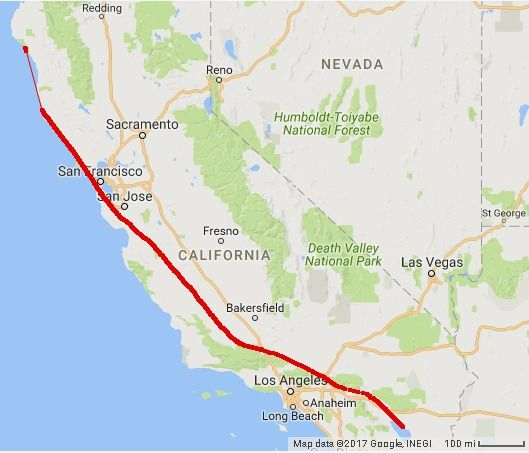 San Andreas Fault • MAP | EARTHQUAKEs | San,reas fault ...
