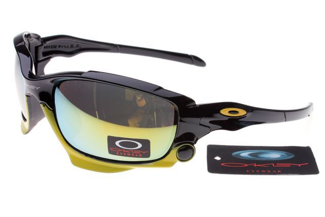 Oakley Jawbone Sunglasses Black Yellow Frame Colorful Lens 0648