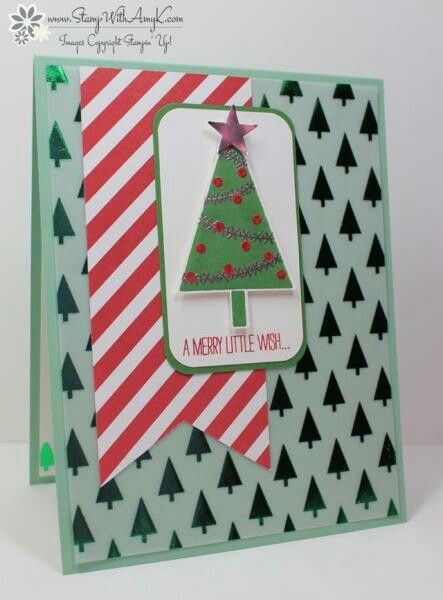 Tree card stampin up