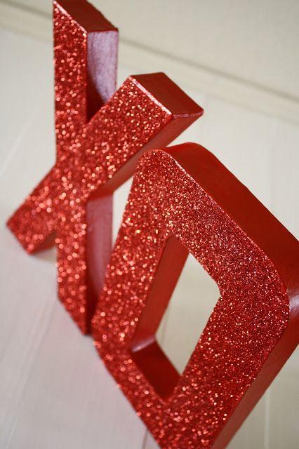 Valentine's Day Glitter XOXO