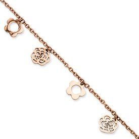 14k Hollow Dangle Circle with 1in ext Anklet