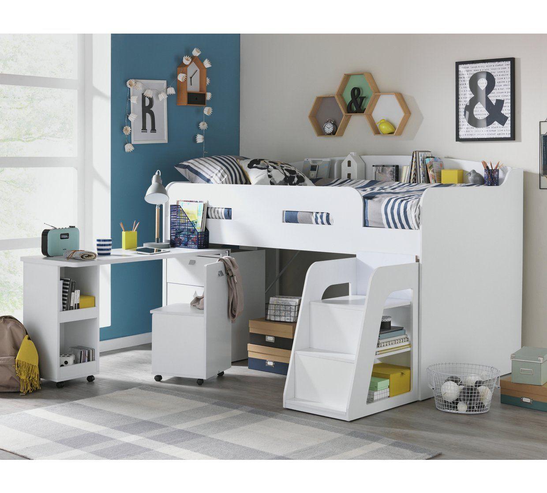 Buy Argos Home Ultimate Storage Mid Sleeper Bed Frame Beech Kids Beds Argos Mid Sleeper Bed White Kids Bed White Mid Sleeper