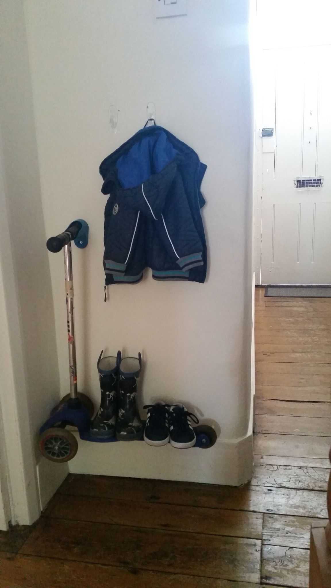 Storage Ideas Scooterpegs In The Hallway Boots And All