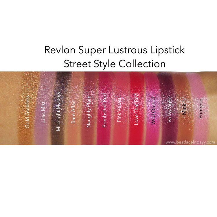 Revlon Super Lustrous Lipstick Street Style Collection Gold