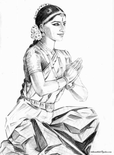Pin By Nidhigangwar95 On Dance India Dancing Drawings Dancing Sketch Beautiful Art Pictures