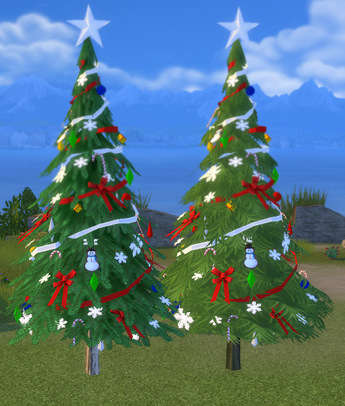 Sims 3 Seasons Christmas Tree: Outdoor Christmas, Sims 4, Sims