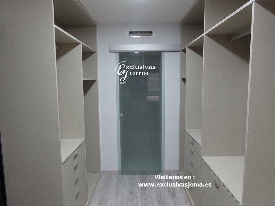 Adaptacion De 2 Habitaciones Y Un Bano Independientes En 1 Dormitorio Unido Con Armario Vestidor De 1 Puerta Corredera Cristal Puertas Correderas Bano Vestidor
