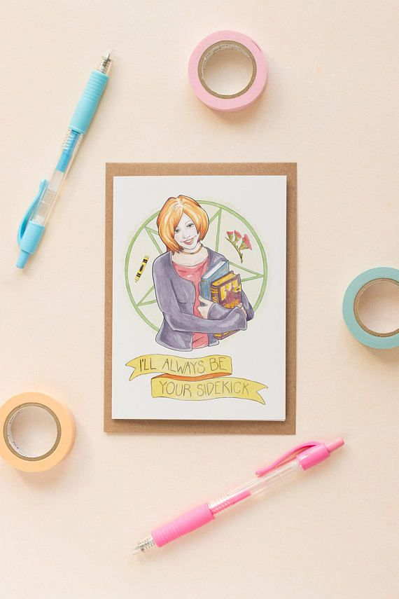 Willow Buffy The Vampire Slayer Best Friend Galentines Card Nerdy