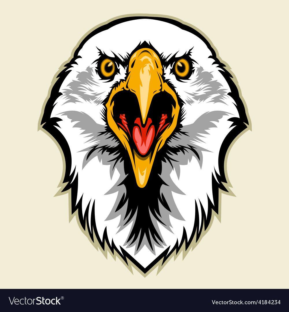 Eagle head vector image on Eagle head, Symbol drawing