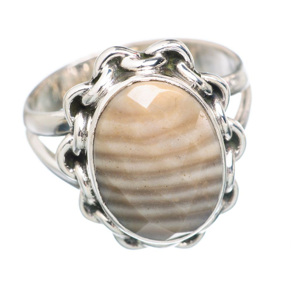 Imperial Jasper 925 Sterling Silver Ring Size 6.75 RING705768