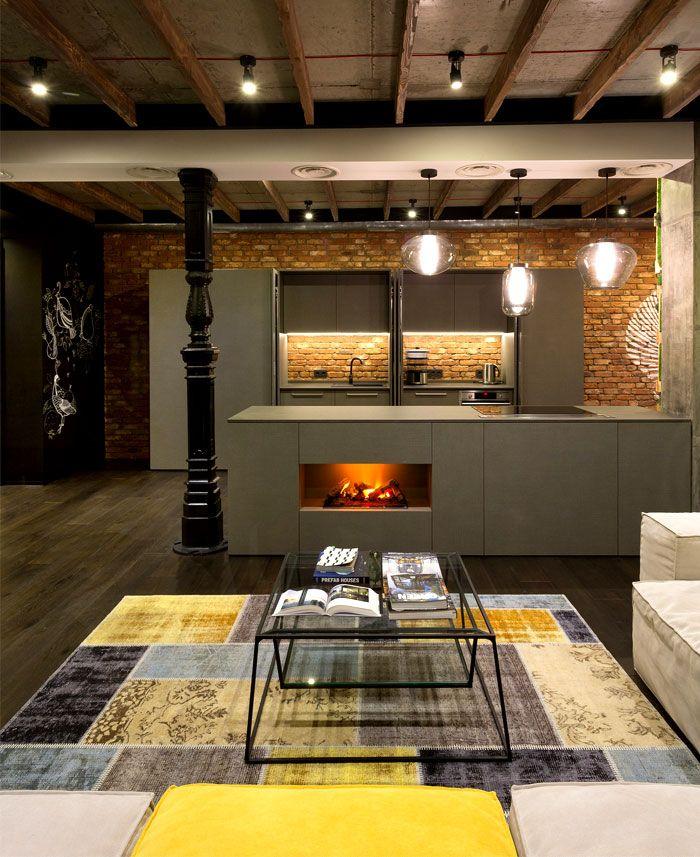 Loft apartment in kiev interiorzine
