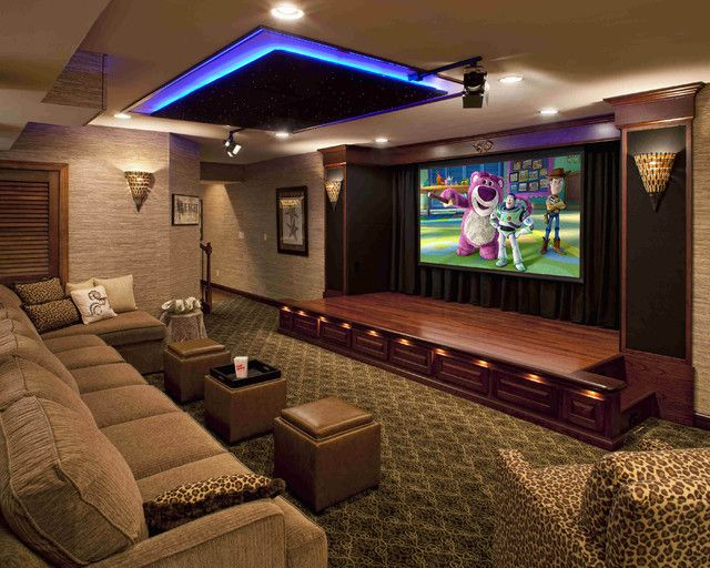Home Theater Design Available At Clear Audio Design, Charleston, WV. Phone  Nice Accent Lights And Great Idea With The Movie Like Theater Curtains On  The ... Part 81