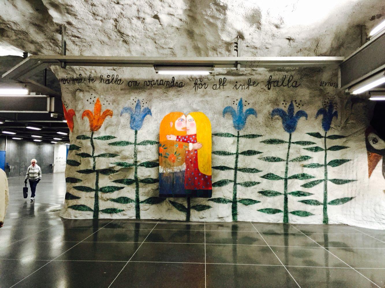 Tensta Tunnelbana En Ros Till Invandrarna Solidaritet Och - Vibrant photos of international subways capture their unappreciated beauty