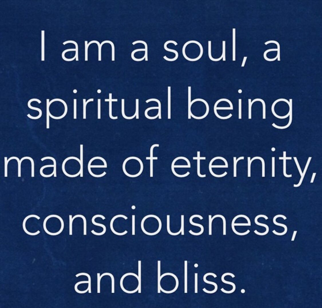 I am a soul a spiritual being......❤️☀️