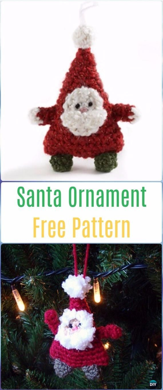 Crochet Amigurumi Santa Ornament Free Pattern - Crochet Santa Clause ...