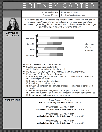 Deep Slate Functional resume, Functional resume template