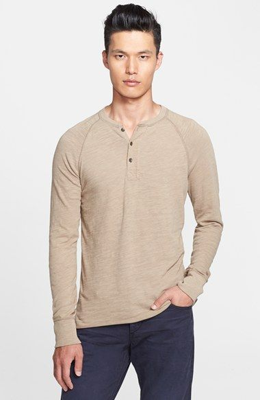 Free shipping and returns on rag & bone Raglan Henley at Nordstrom.com. Woven trim highlights the placket on a marled cotton henley styled with raglan sleeves and a rolled hem.