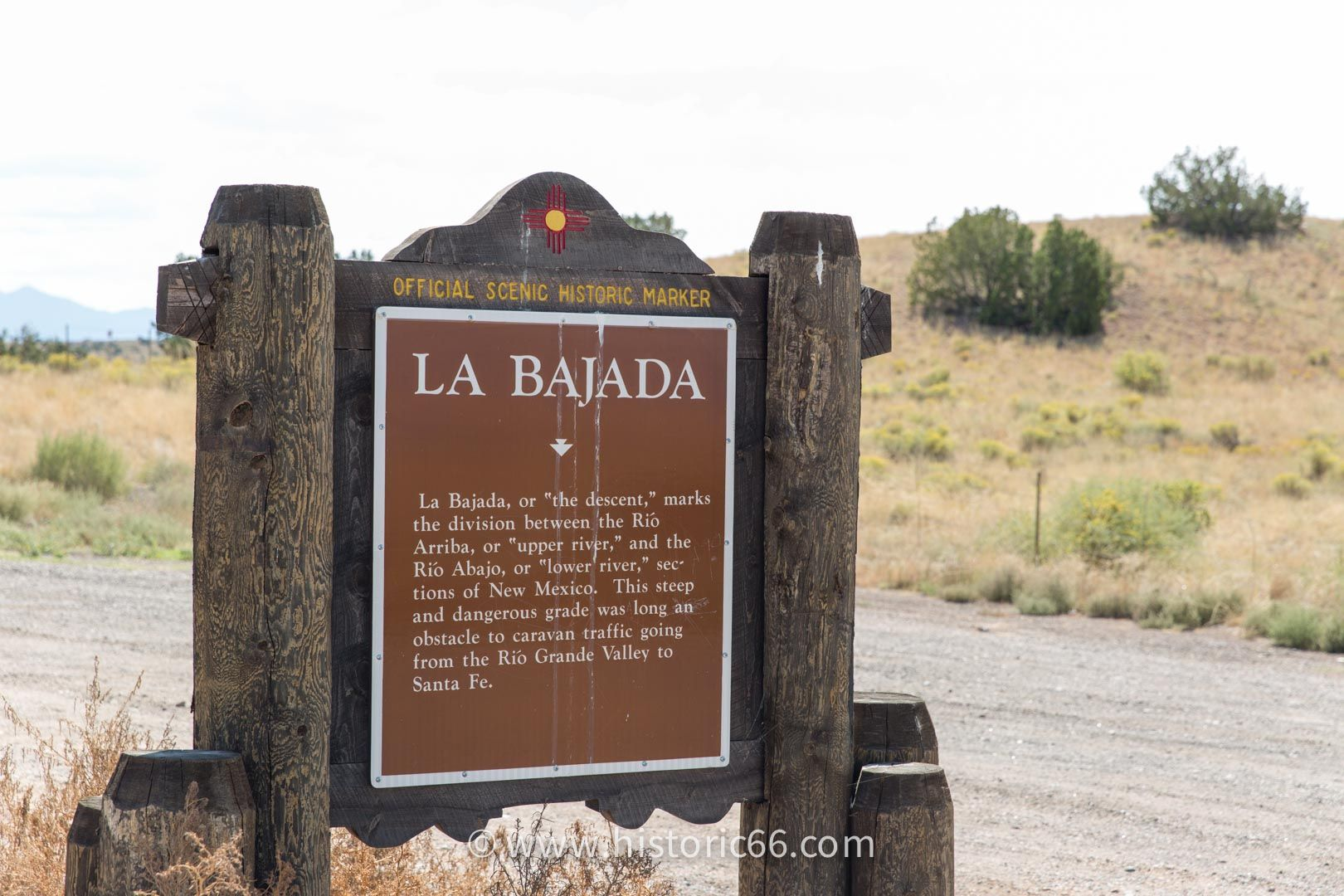 La Bajada Hill is one of the most interesting, but most difficult to traverse, segments of Route 66.