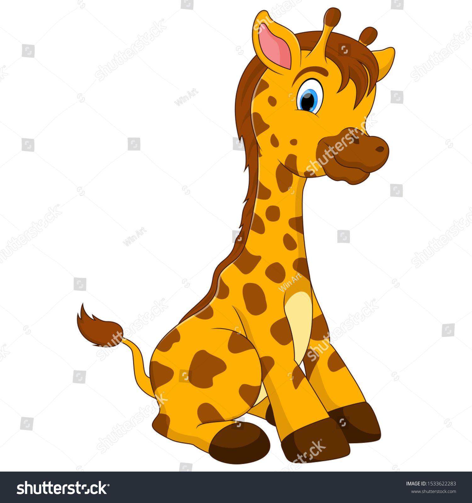 A Baby Giraffe Cartoon Sitting On The Floor Ad Sponsored Giraffe Baby Cartoon Floor In 2020 Baby Giraffe Baby Cartoon Cartoon