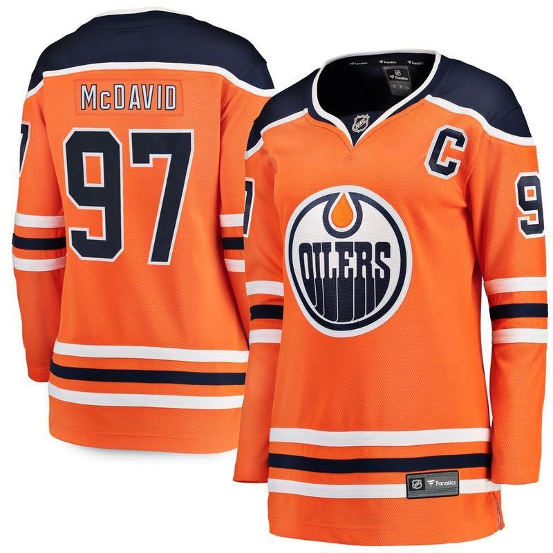 Connor McDavid Edmonton Oilers Fanatics Branded Women's