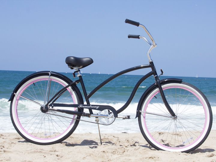 Firmstrong Chief Single Speed Black W Pink Women S 26 Beach Cruiser Bike Beach Cruiser Bike Beach Cruiser Beach Cruiser Bikes