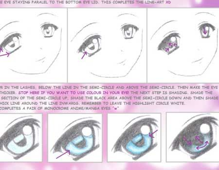 How To Draw An Anime Eye Anime Tutorial Anime Eyes Eye Tutorial