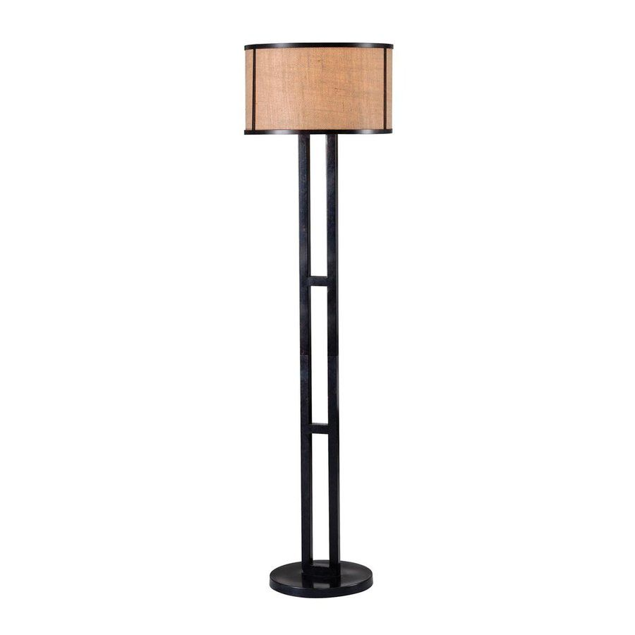 Shop Kenroy Home Keen 58 In 3 Way Switch Bronze Shaded Floor Lamp 4 Lowes 575 With Fabric Shade At Lowescom