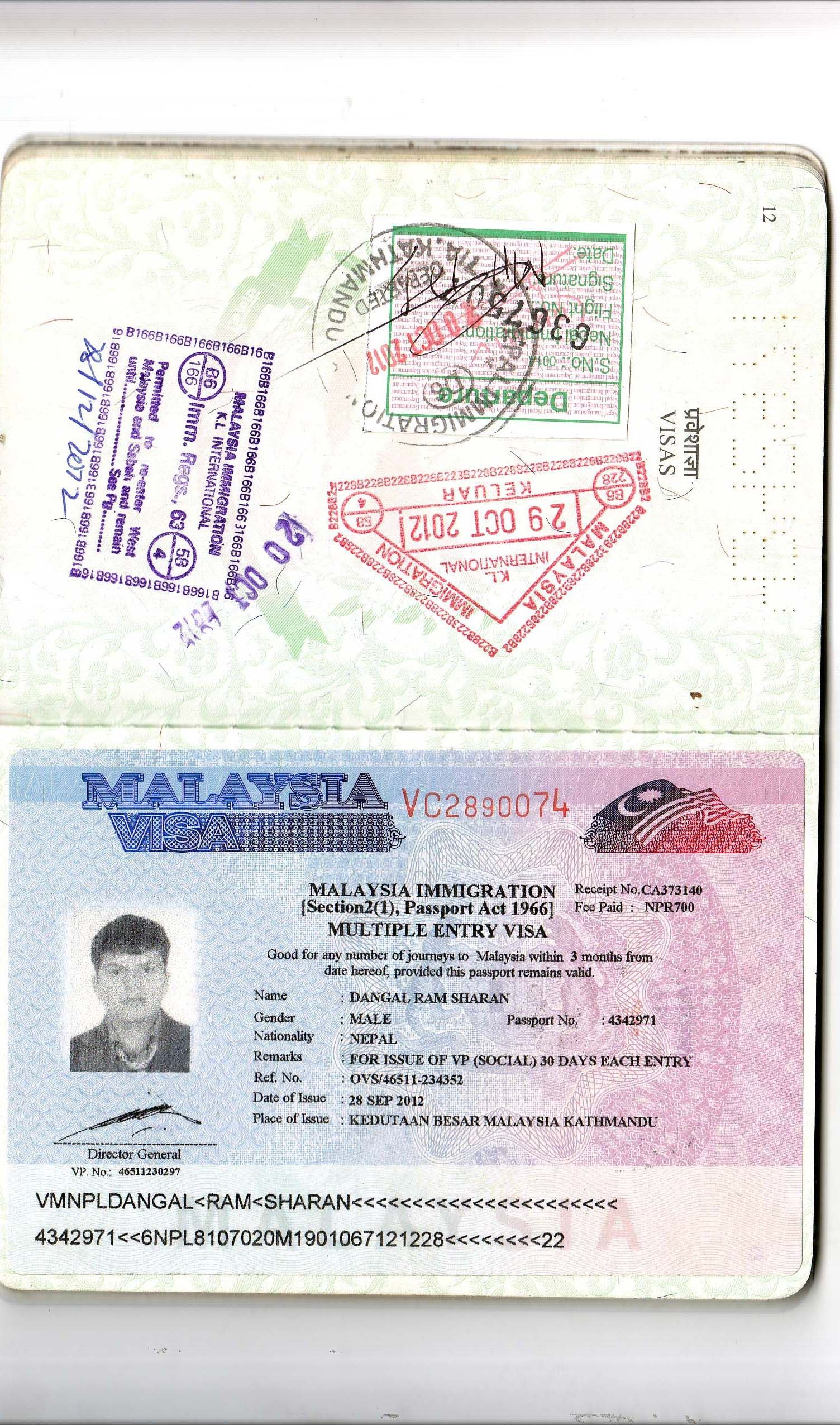 Pin By Ram Sharan Dangal On Passports Travel Visas