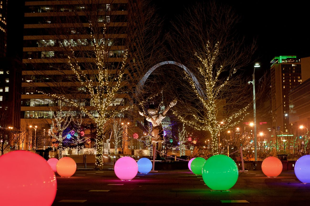 Marvelous A Citygarden Christmas In St. Louis U2013 Free Background