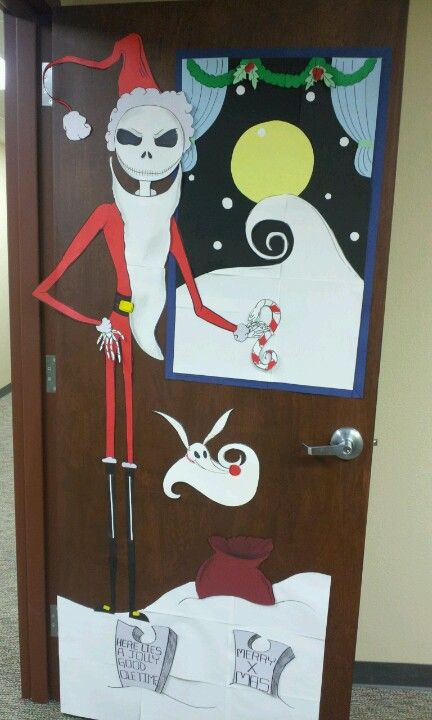 christmas door decorating contest nightmare before christmas jack skellington