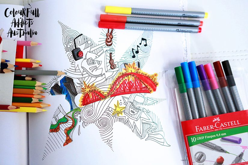Adult Colouring In Book ColourFull Addicts Australia Colac This Faber Castell For Adults Is A Great Way To Relax And Unwind