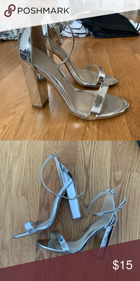 4e821c57e25 Missguided Metallic Heels Worn 1-2 times. 37 Missguided Shoes Heels ...