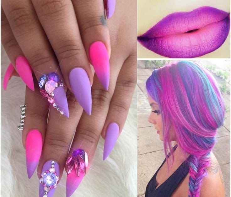 Just Pinned To Fashion For Women Here Y All Go Since Everyone Wants To Be A Mermaid Or A Unicorn Lol Please Help M Purple Gel Nails Metallic Nails Cute Nails
