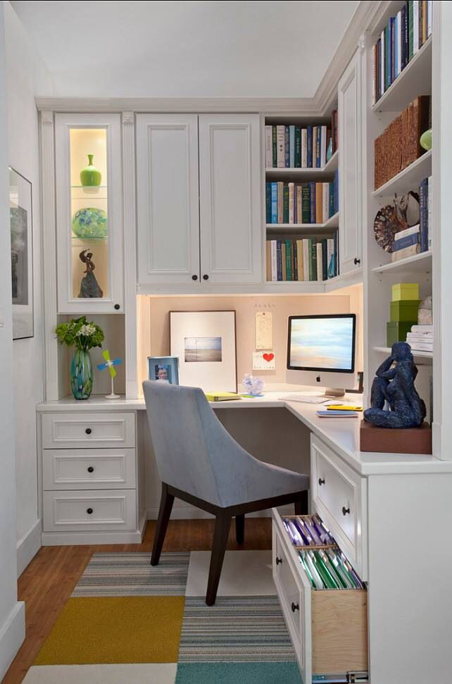 Love this small home office.