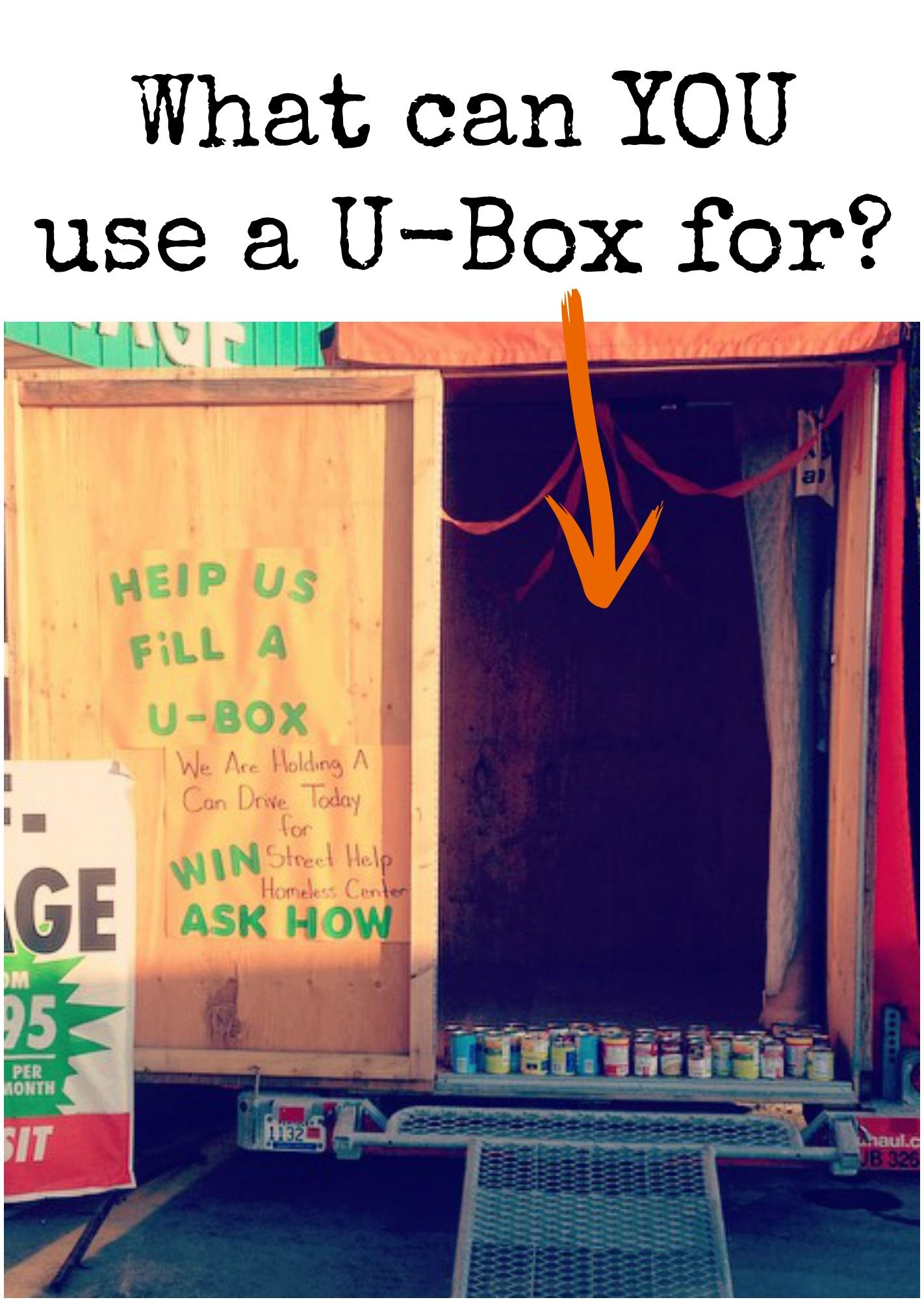 Use A U Box Container As A Storage Solution For A Fall Canned Food